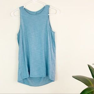 lululemon | low key open back blue tank top 4